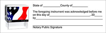 NASI - Notary Acknowledgement Self-Inking Stamp