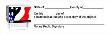 NJSS - Notary Jurat Stamp Self-Inking