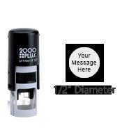 PTR12R - COSCO R 12 Round Stamp