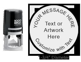 PTR45R - COSCO Printer R 45 Round Stamp
