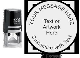 PTR50R - COSCO Printer R 50 Round Stamp