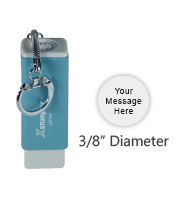 "N44 - Pre-Inked<br>Round Keychain Stamp<br>3/8"" Diameter"