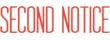 SECOND NOTICE 1012 - SECOND NOTICE PTR 40